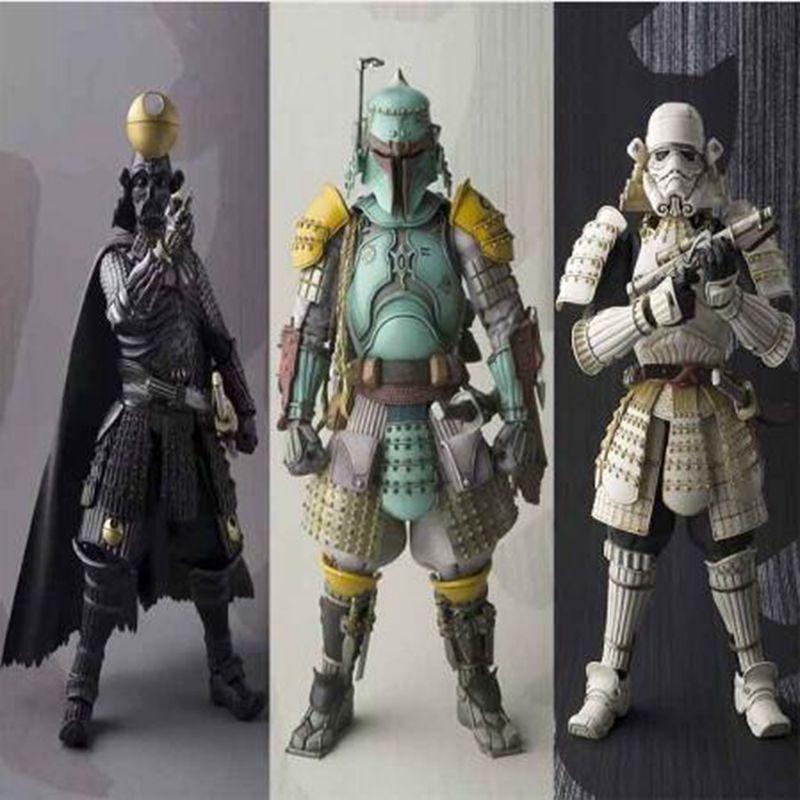 Anime Star Wars Stormtrooper Darth Vader Boba Fett Sic Samurai Taisho Pvc Action Figures Star Wars Collection Model Toys Gift kopen