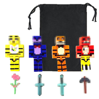 100 Sets Action Figure Minecraft Five Night At Freddy's With Bag DHL shipping Free