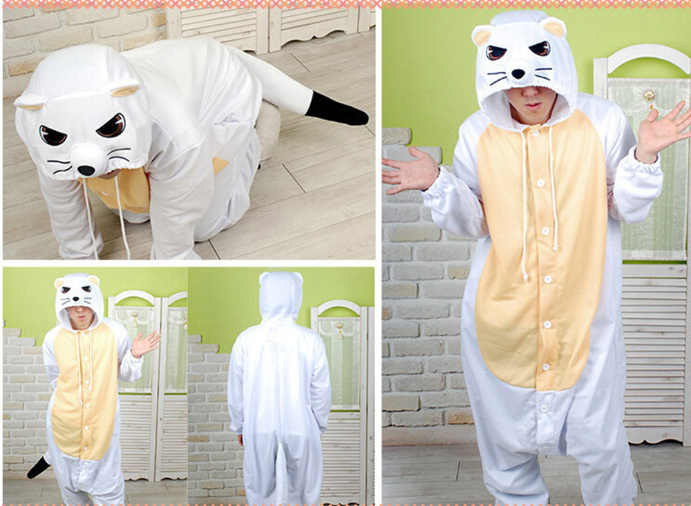New Animal Pajamas Women Costumes Weasel Onesies Men Pyjamas Costumes Cartoon Sleepsuit Sleepwear