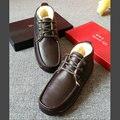 Austrália importado pele de ovelha botas de neve dos homens 4822 masculino business casual couro sapatos baixos botas de neve de algodão