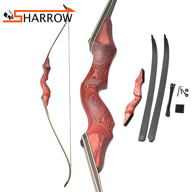 1 Pcs Archery Recurve Bow Fiberglass Limbs Take down Bow 30-60 lbs 60 Inch Custom Made Right Left Hand Shooting Hunting