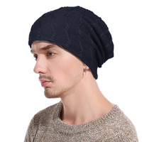 2017 Fashion Knit Beanie Wool Knitted Cap For Men Winter Hat Balaclava Twist Hedging Cap Thicken
