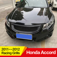 Use for Honda Accord Racing Grills 2011 2012 Year carbon fibre Refitt Front Center Racing Grille Cover Accessories no car logo