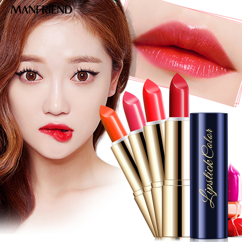 Top quality Lipstick Waterproof Glide Moisture Smooth Protective Lip Stick Cosmetics 4 colors Nutritious Lips Beauty Makeup помада sleek makeup lip v i p lipstick 1022 цвет 1022 name in lights variant hex name a93973
