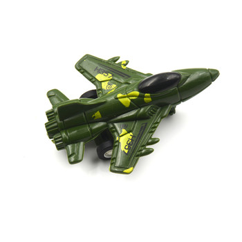 1pcs Military Plane Pull Back Toy Mini Aircraft for Children Education Toyodels Force Fighter Airplane Toy image
