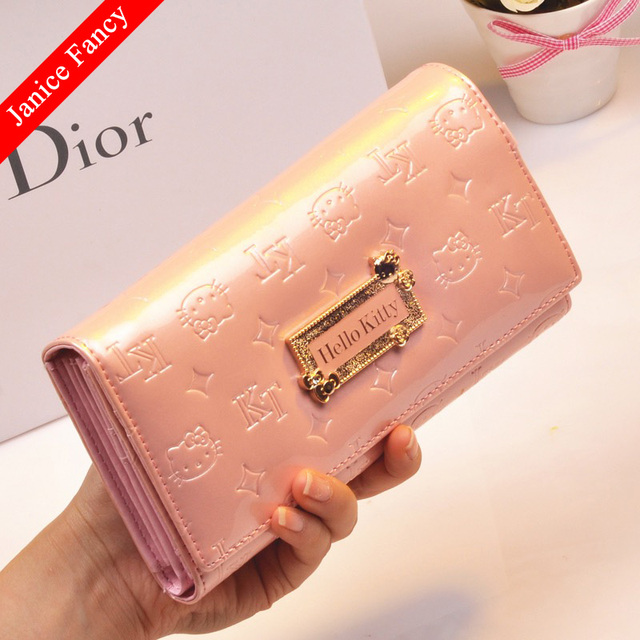 c757ac9ec Clearance Sale Fashion Hello Kitty Designer Genuine Leather Neceser  Feminina Sac Women Coin Card Wallet Purse 19*11*3cm
