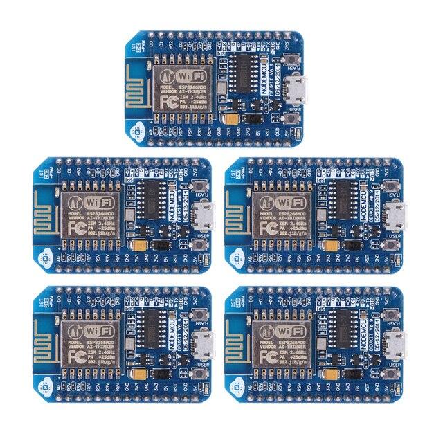 NI5L 5Pcs WIFI Internet Development Board Module for NodeMcu Lua ESP8266 CH340