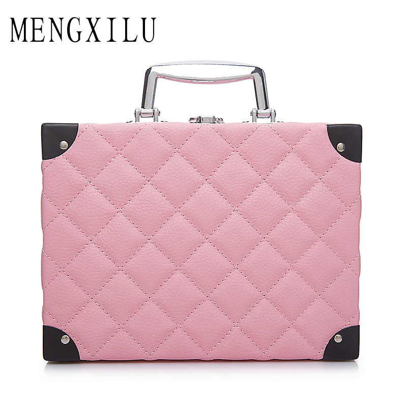 MENGXILU Women Multifunctional Large Cosmetic Bag Portable Plaid Capacity Cosmetic Case Decoration Professional Makeup Bags original quality a1398 bottom case d cover for apple macbook retina 15 2013 2014 year page 2