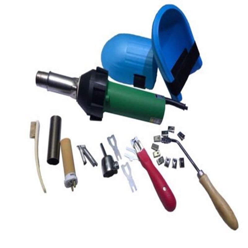 Виниловый пол горячий воздух сварочный комплект с 110 в пластиковый Тепловая пушка + 110 В нагревательный элемент и аксессуары для полиэтилен