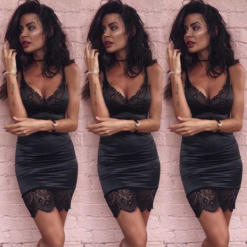 New 2018 Summer Sexy Women Bandage Bodycon Cocktail Party Club Mini Short Dress
