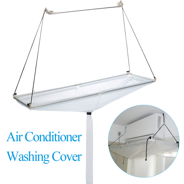 Open Pvc Air Conditioner Wash Cleaning Cover Ceiling Wall Mounted Conditioning Reusable Dust Washing