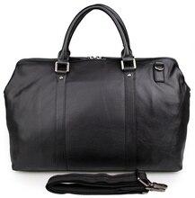 JMD Fashion Genuine Leather Tote Handbag Travel Bag Dispatch Tote Bag Unisex 7322A