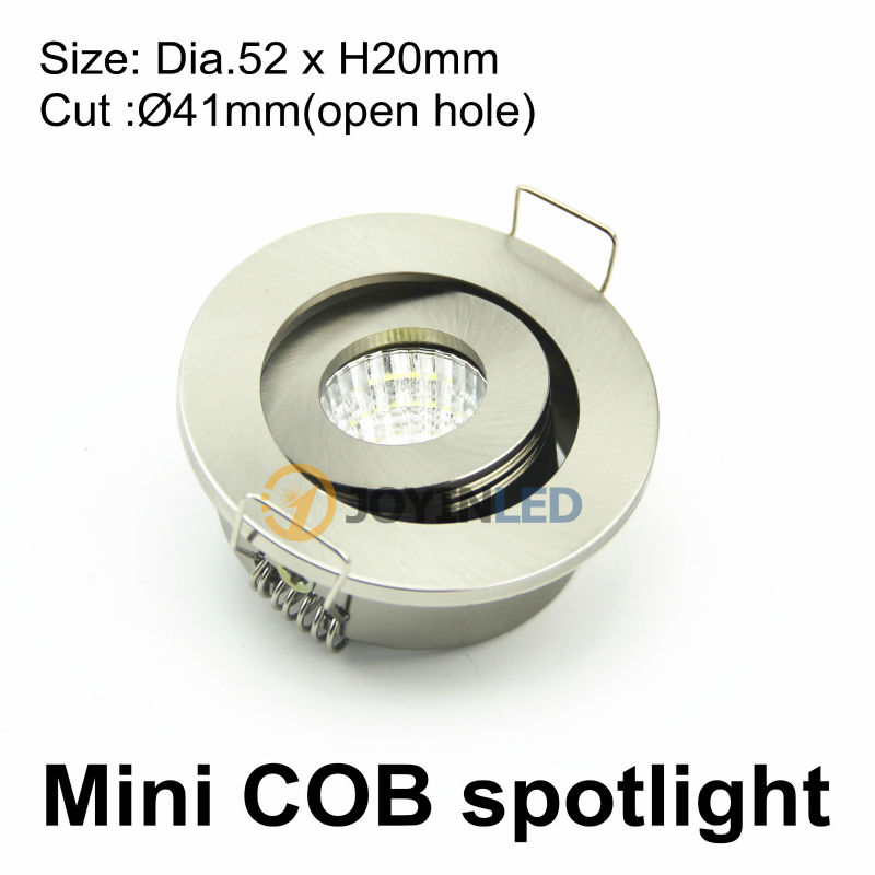 aliexpress koop dc12v 3 w verzonken plafond mini cob spot