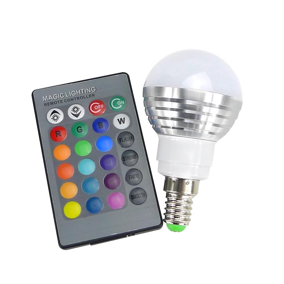led rgb bulb lamp e27 e14 ac85 265v 3w led rgb spot. Black Bedroom Furniture Sets. Home Design Ideas