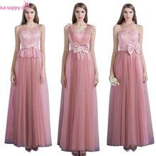 9e23a98fb195 Stile country robe de soiree eleganti damigelle d onore senza maniche spose  cameriera lunghi di lunghezza del vestito abito brid.