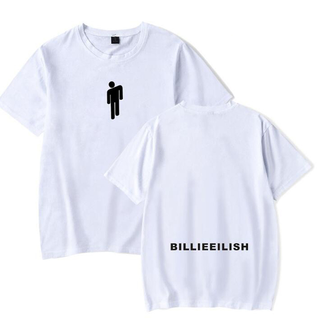 Hip Hop Fashion Brand Clothing KPOP Billie Eilish T Shirt Women/Men 100% Cotton Short Sleeve Funny Tshirt Male/Female Tee Shirt
