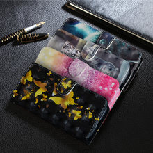 Luxury Painting Leather Cover Case For Huawei Y9 2018 Luxury Wallet with Flip Stand Style Phone Bag Cover sFor Huawei Y9 2018(China)