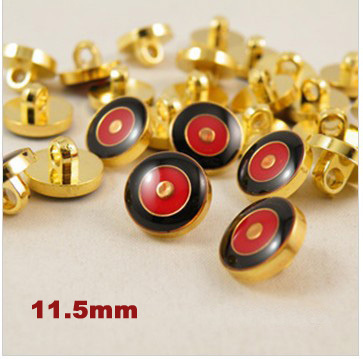 30pcs/lot Fashion gold edge two-tone Shirt shank buttons plastic,button,plastic sewing buttons (SS-7090)
