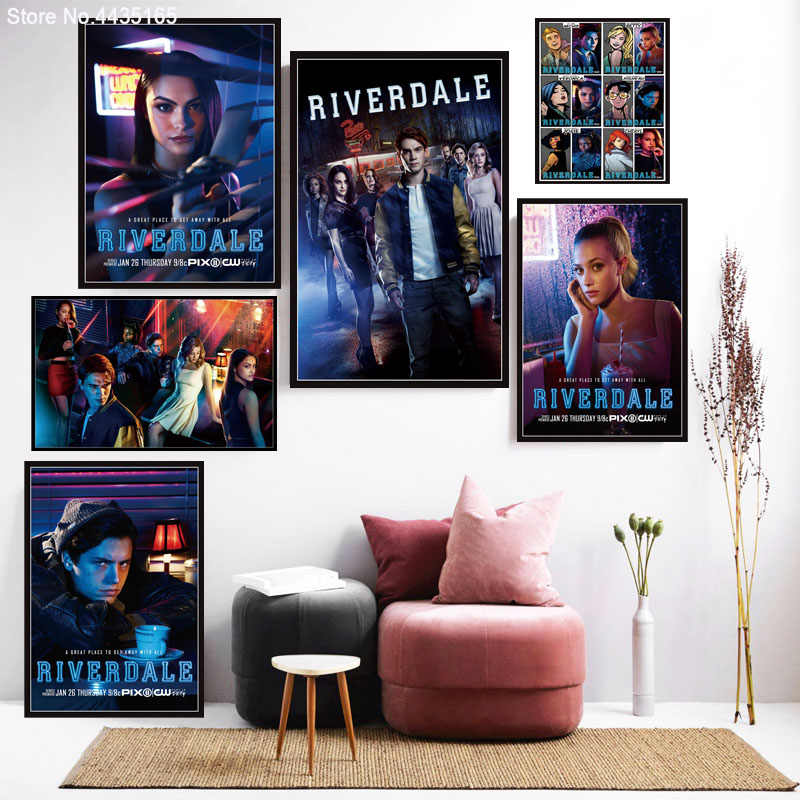 Riverdale Movie Poster Hot New Movie Posters and Prints Wall Art Picture Canvas Painting Decoration for Living Room Home Decor