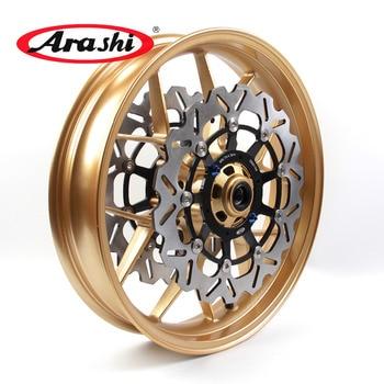 Arashi 1 Set Front Wheel Rim Brake Discs Rotors For HONDA CBR600RR 2007-2017 CBR600 CBR 600 RR 600RR 07 08 09 10 11 12 13 14 17