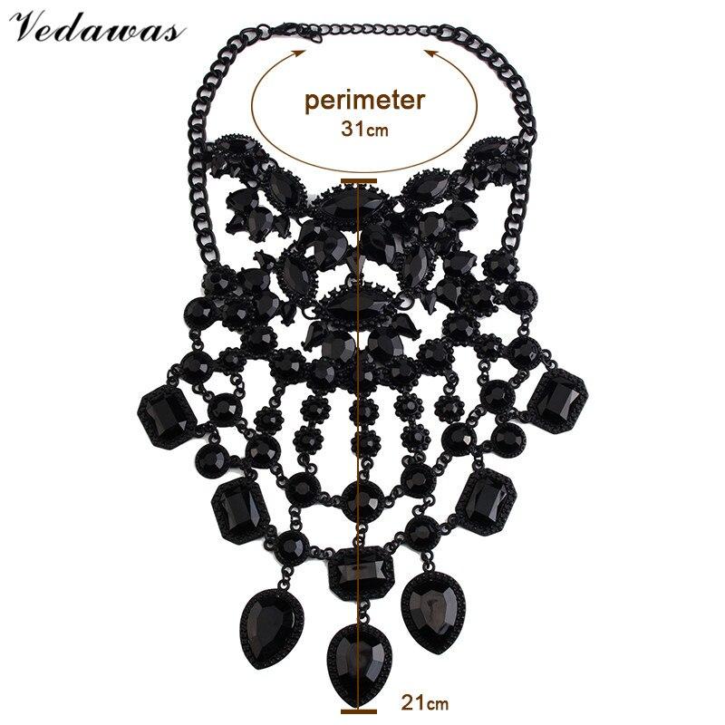 Vedawas módní šperky ženy černé DIY drahokamu korálky límec - Bižuterie - Fotografie 5