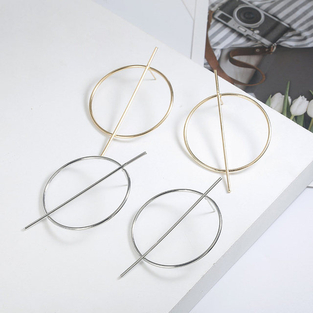New exaggerated Big Earrings for Women Circle Round Alloy Earrings Jewelry Halloween Gift 2