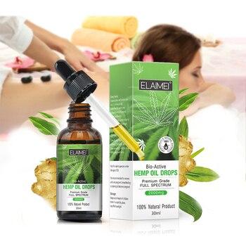 Aceite Esencial 2019 orgánico de semillas de cáñamo, 30 ml, gotas de hierbas, aceite para el cuerpo, alivio del estrés, cuidado de la piel, ayuda a dormir, Dropshipping TSLM1