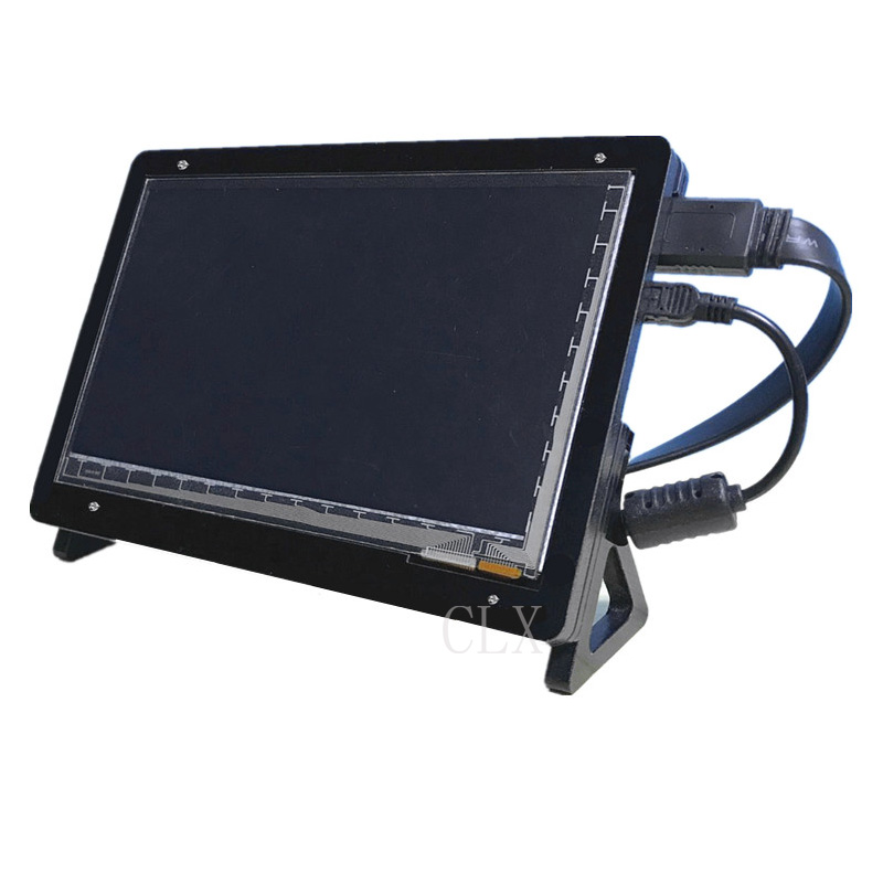 7 Inch LCD Acrylic Case Raspberry Pi 3 Model B LCD Touch Screen Display Monitor Bracket Case for Raspberry Pi 3 LCD 7 inch raspberry pi 3 lcd display touch screen lcd 1024 600 hdmi tft monitor acrylic case compatible with rpi 2 b
