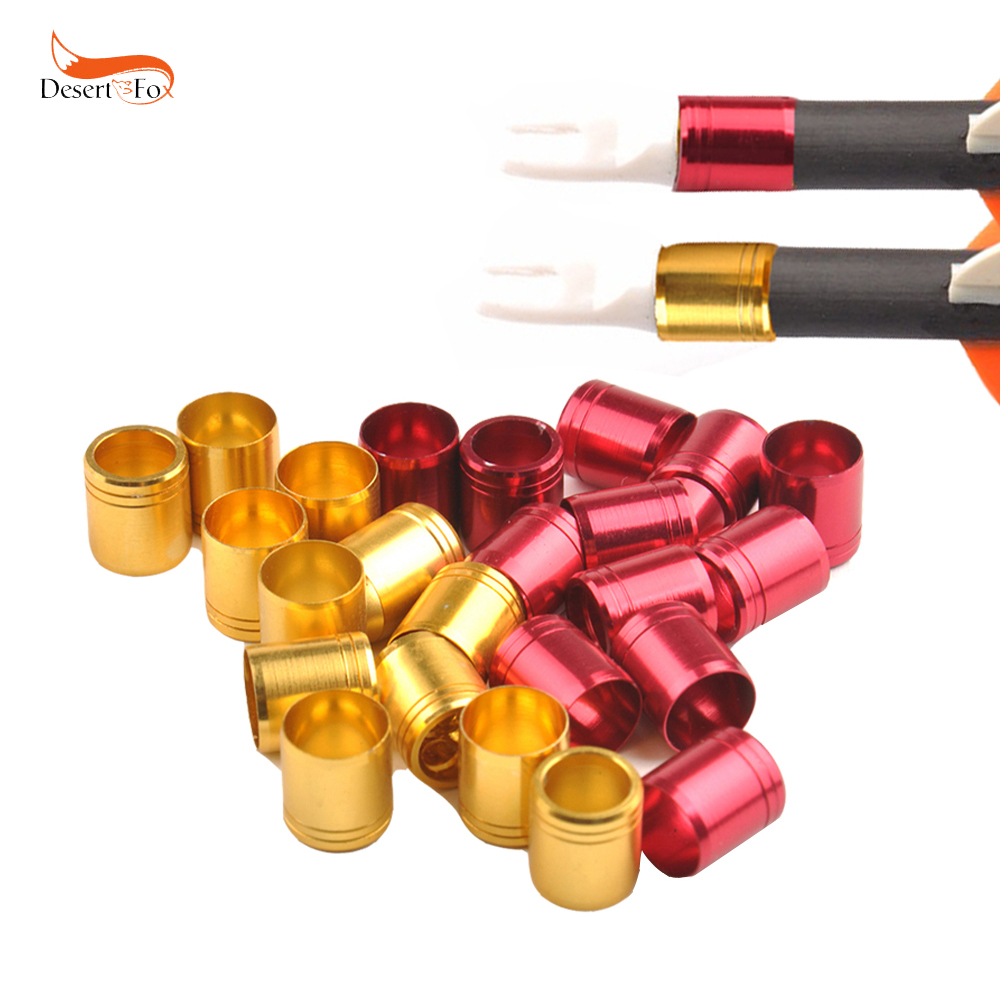 12/24pcs High Quality Gloden and Red Explosion-proof Ring For OD 7.6mm Arrow Shaft Archery Accessories  for Protect Arrows