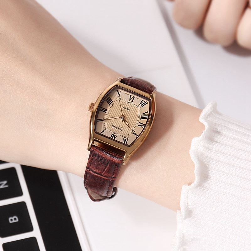 Beste cadeau damesmode fashion casual lederen band horloge Vintage - Dameshorloges - Foto 6