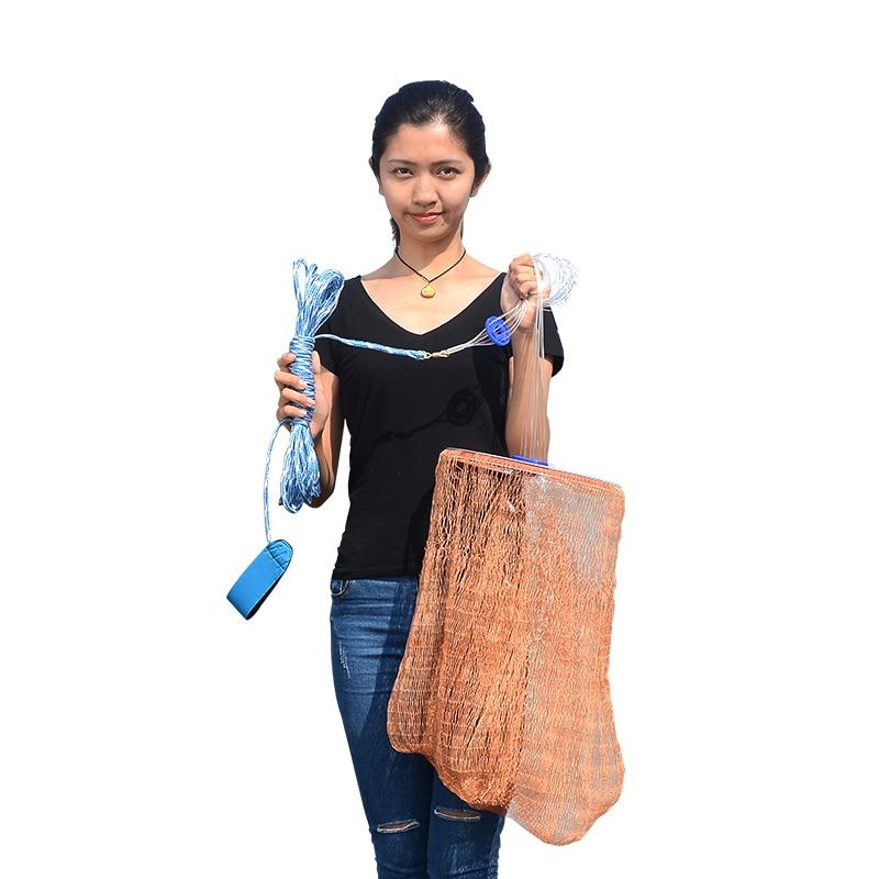Réseau de pêche de filet de pêche de diamètre 2.4-4.2 m de filet de fonte de main 3 m Style des etats-unis avec le petit réseau de branchies de jet de mouche de maille de sinker