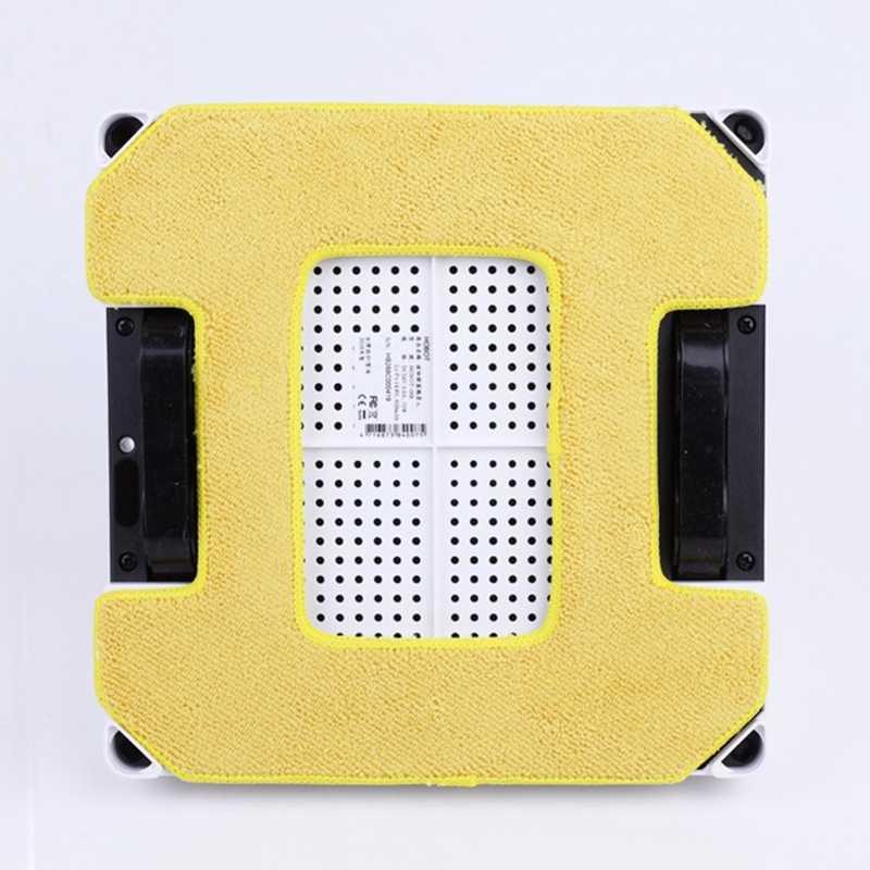 2 piezas trapeador húmedo + 2 piezas trapeador seco para Hobot 268 288 Robot X6 policía Rosa X6 ventana limpia paño de mopa limpiador de tela para ventanas de vidrio