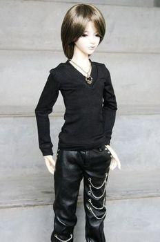 [ wamami ] 06# черный футболка / экипировка 1/4 MSD DZ AOD DOD снмп бжд Dollfie