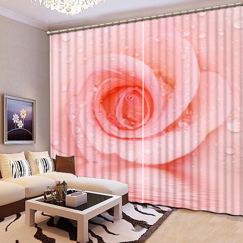 Luxury 3D Blackout Curtains Modern Lifelike Scenery 3D Window ...