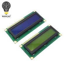 WAVGAT LCD1602 1602 module Blue Green screen 16x2 Character LCD Display Module HD44780 Controller blue black light(China)