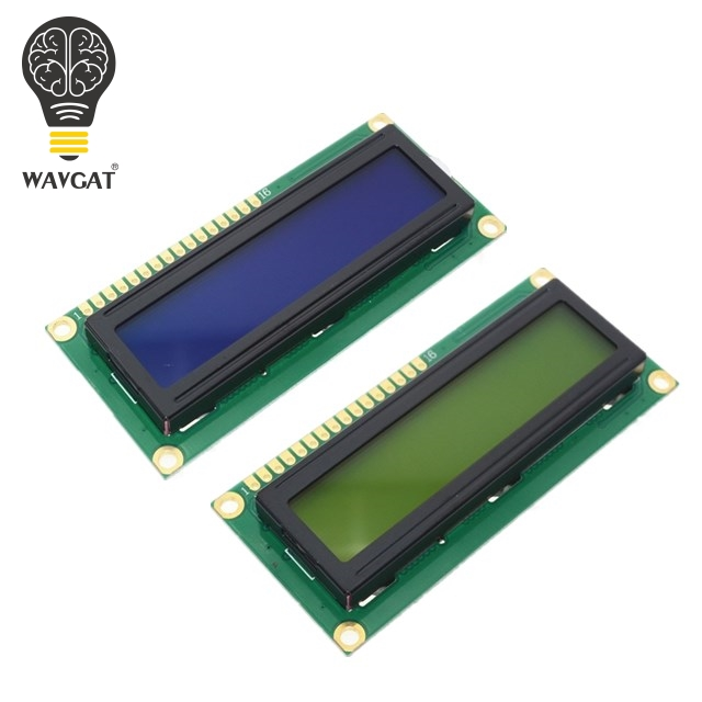 WAVGAT LCD1602 1602 module Blue Green screen 16x2 Character LCD Display Module HD44780 Controller blue black light