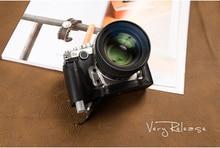 [VR] Real Leather-based Digital camera case Half Physique Digital camera Bag Handmade Backside Cowl Deal with Classic Case For Nikon DF