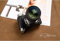 [VR] Genuine Leather Camera case Half Body Camera Bag Handmade Bottom Cover Handle Vintage Case For Nikon DF