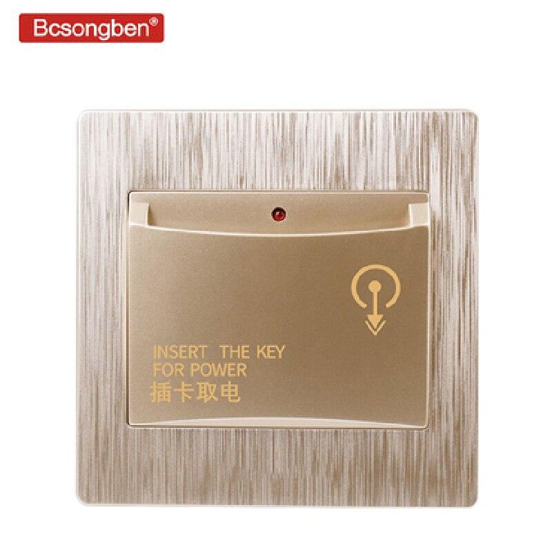 86X86mm high-end-hotel smart karte netzschalter 220 v/40A einfügen schlüssel für power versorgung