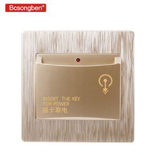 Bcsongben 86X86mm high-end hotel smart card power switch 220V / 40A insert key for power supply Any card to take power uv ink printed barcode card and plastic member key card 3 part supply