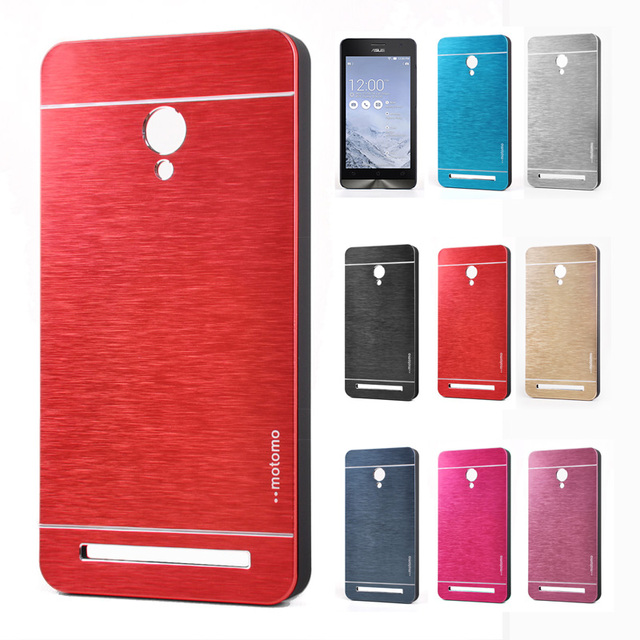 free shipping 57d64 6fcf7 US $3.97 |Metal Case For Asus Zenfone 6 Brushed Aluminum Skin Cover  Rubberized Plastic Case Motomo Cover for Zenfone2 ZE500CL ZE551ML Case on  ...