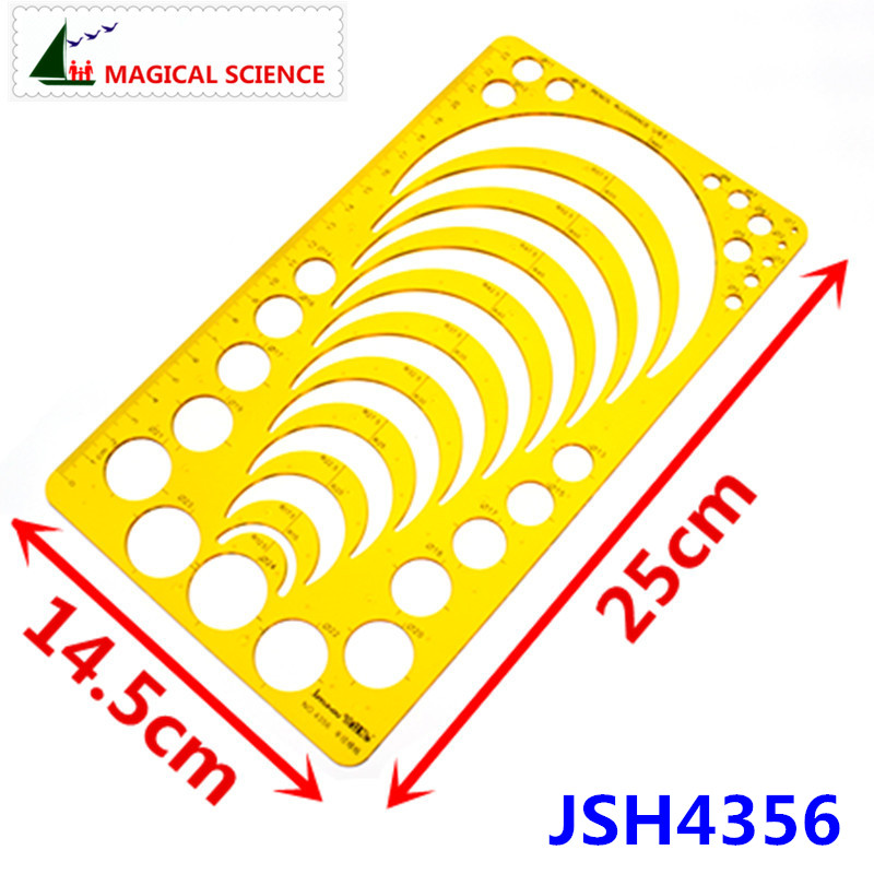 Radius Template Semicircle Drawing Ruler Plastic Jewelry Building Design Templates Flexible JSH4356