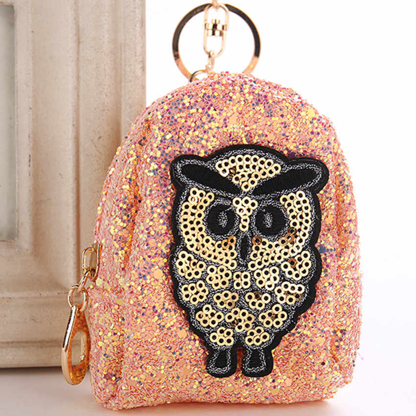 Moda jednorożec torba w kształcie brelok Mini portmonetka zamek mały portfel brelok PU skórzana torebka wisiorek biżuteria