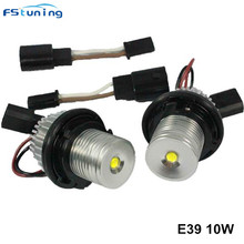 цены FSTUNING 10W 6000K E39 X3 X5 E53 LED Marker headLights Halo Ring for BMW E39 E53 E65 E66 E60 E61 E63 E64 E87 led Angel Eyes