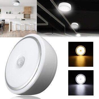 12W PIR Sensor de movimiento acrílico lámpara de luz led de techo blanco cálido/blanco moderno restaurante/baño lámpara de techo led iluminación