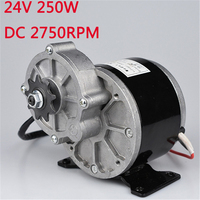 Brushed DC 24V 250W Motor For Electric Scooter E bike Folding Bike Small E Motor Electric Bicycle Conversion Parts MY1016Z
