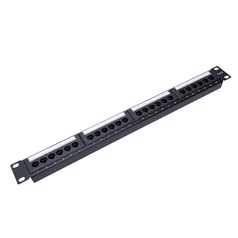 UTP 24 Port Rj45 Patch Panel Rack Cable Wall Mounted Bracket Connector Rack Tool Ethernet Lan Network Adapter CAT6