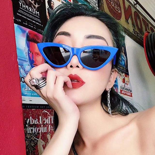 Brand Cat Eye Sunglasses Women 2018 New Fashion Triangle Small Size Frame Vintage Sun glasses Mirror Eyewear UV400