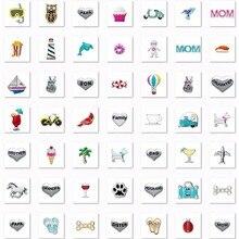 40 шт. плавающие амулеты Смешанные случайные продажи подходит для плавающего медальона ювелирные изделия кулон ожерелье рекламные продукты