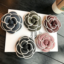 Korea New Handmade Modern Fabric Flower Saturna Brooches Pins Badges Fashion Jewelry For Woman Accessories-YHGWBH008F